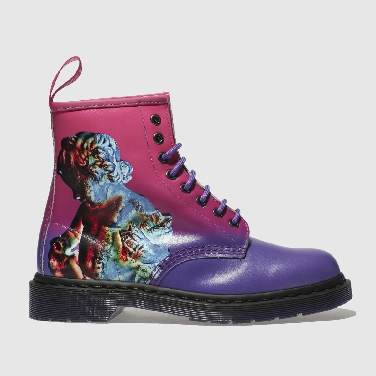 Dr Martens Purple 1460 Technique 8 Eye Boot Boots