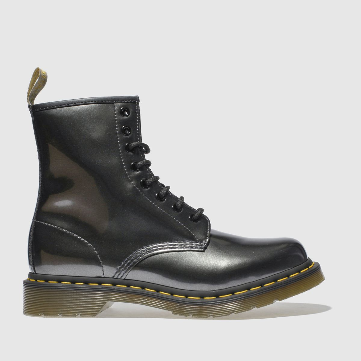 Dr Martens Dark Grey 1460 Vegan Chrome 8 Eye Boots