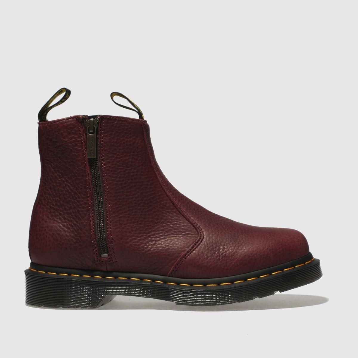 Dr Martens Burgundy 2976 Zip Chelsea Boots