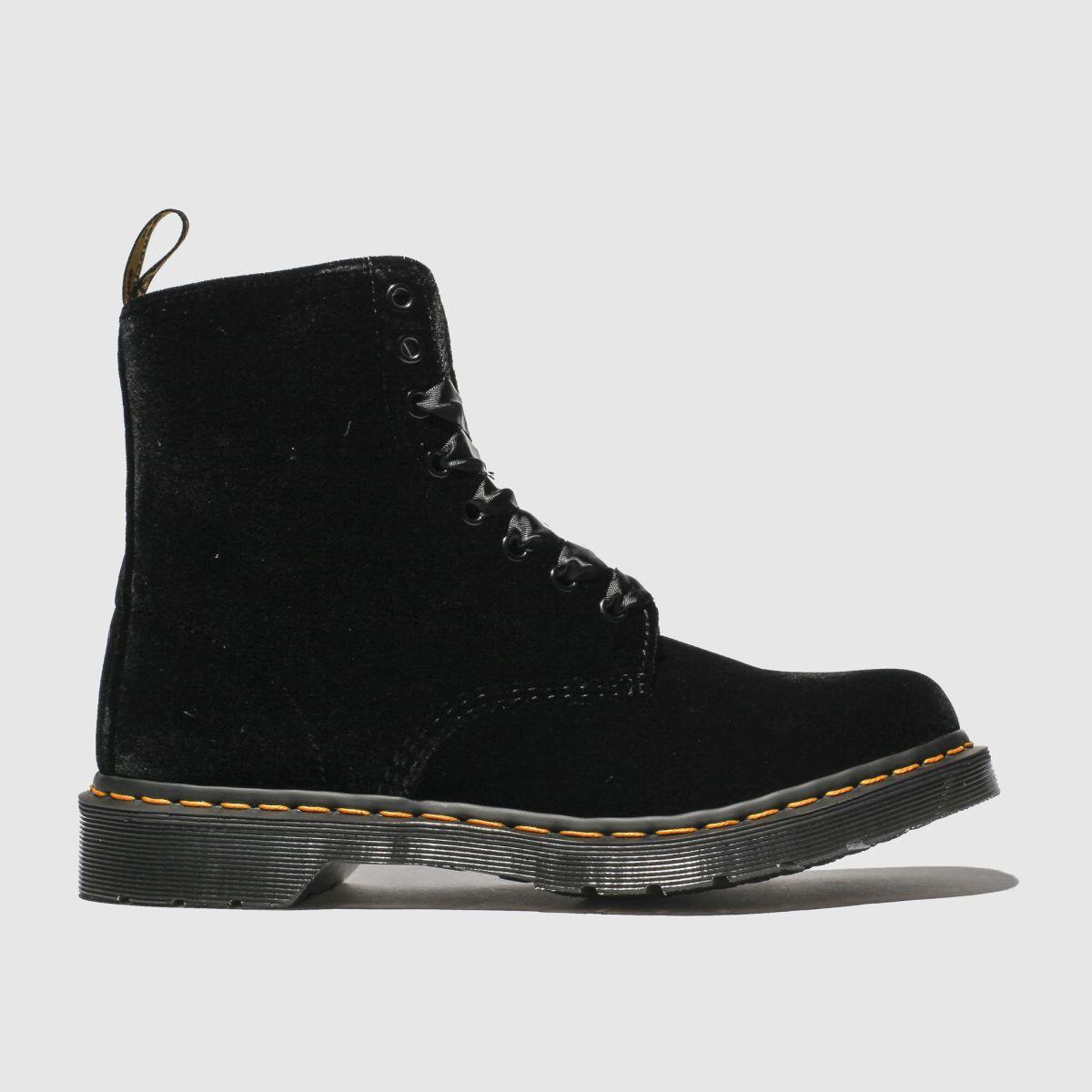 Dr Martens Black 1460 Pascal Velvet Boots