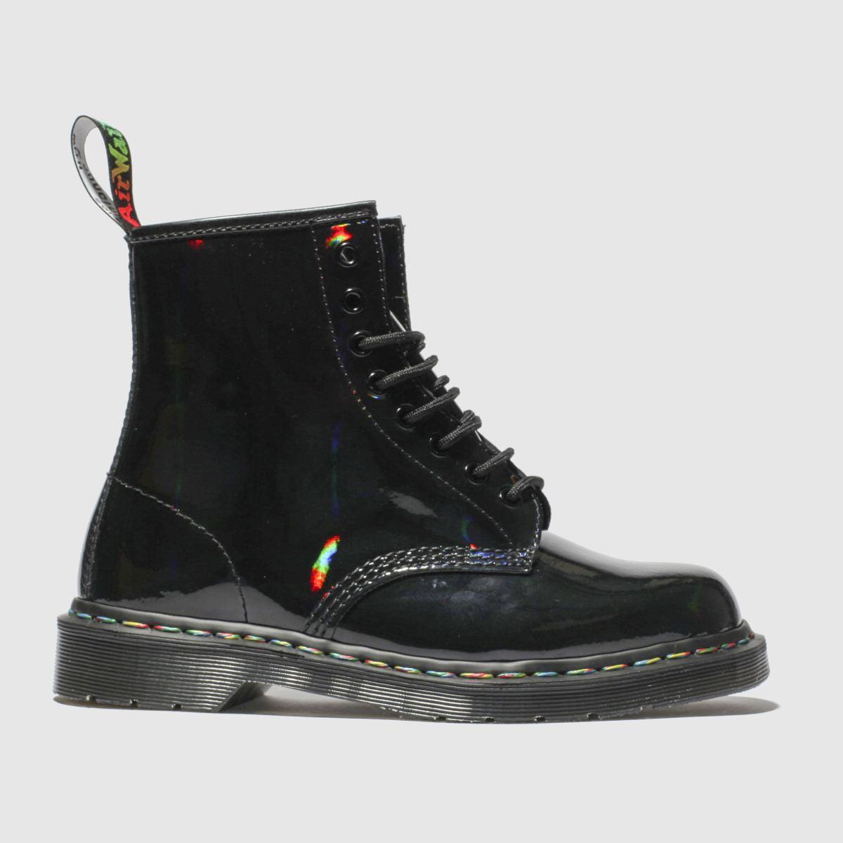 Dr Martens Black 1460 8 Eye Rainbow Boot Boots