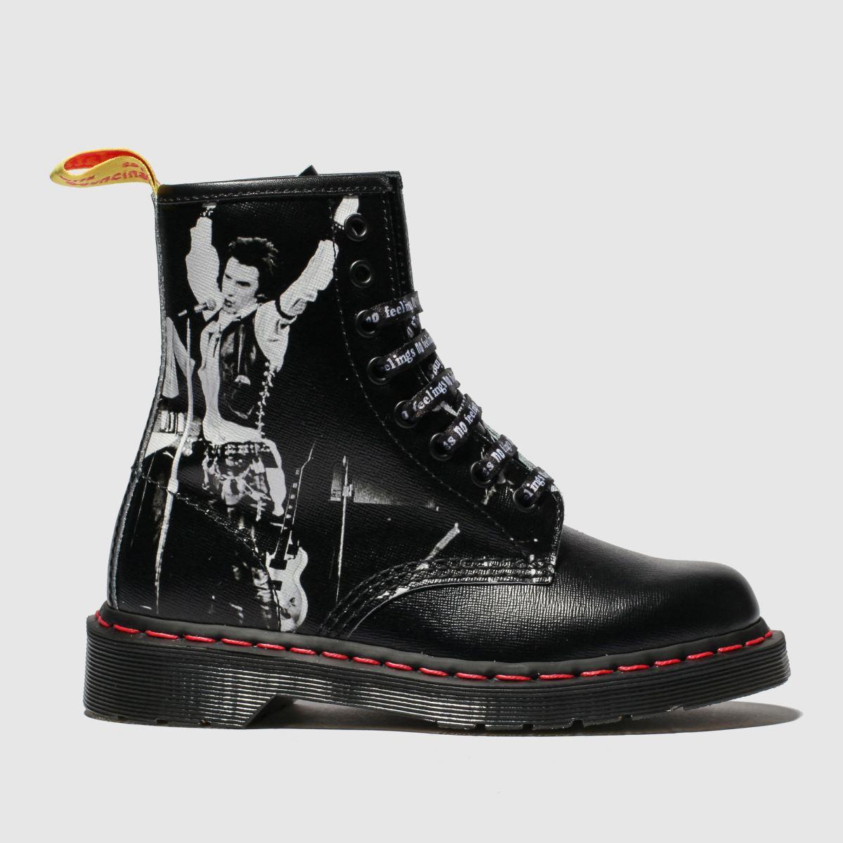 Dr Martens Black & White 1460 8 Eye X Sex Pistols Boots
