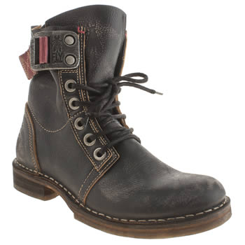 Womens Fly London Navy Nay Boots