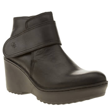 Womens Fly London Black Morganne Muze Boots