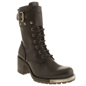 Womens Fly London Black Lask Boots