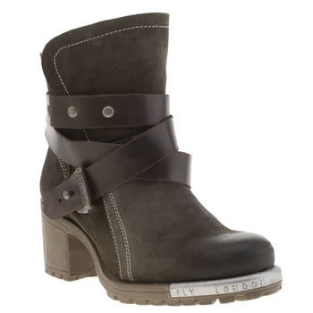 Womens Fly London Khaki Lok Boots