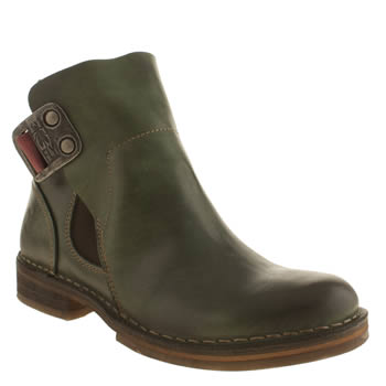 Womens Fly London Green Nolt Boots