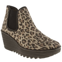 Beige & Brown Fly London Yat Leopard