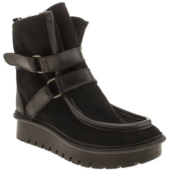 Womens Fly London Black Kal Boots