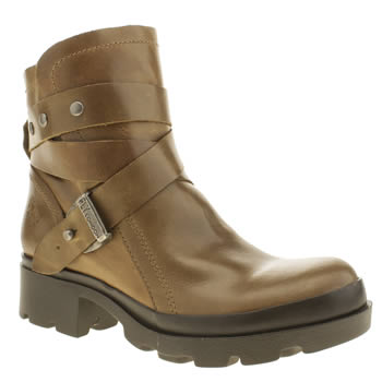 Womens Fly London Tan Mok Boots