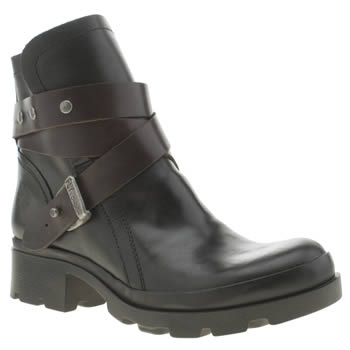 Womens Fly London Black Mok Boots