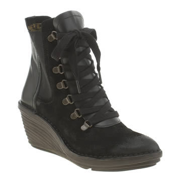 Womens Fly London Black Suzu Boots