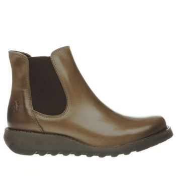 Fly London Tan Salv Womens Boots