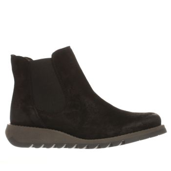 Fly London Black Salv Womens Boots