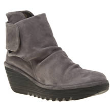 Fly London Grey Yegi Womens Boots
