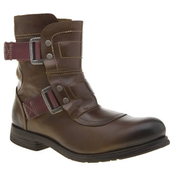 Fly London Tan Seli Womens Boots