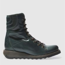 Fly London Dark Green Same Womens Boots