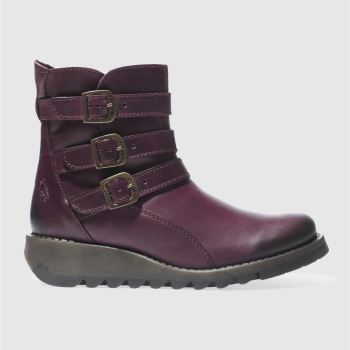 Fly London Purple Sard Womens Boots
