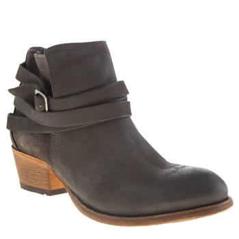 H By Hudson Grey Horrigan Straps Boots
