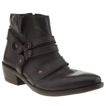 H By Hudson Black Vow Ankle Boots