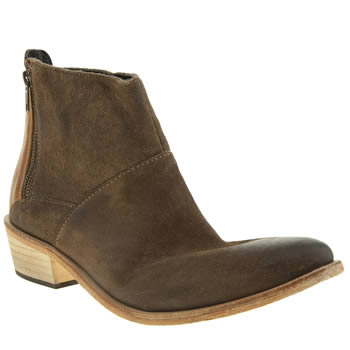 Womens H By Hudson Beige Fop Side Zip Boots