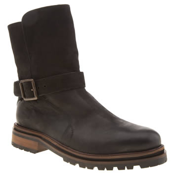 H By Hudson Black Tatham Buckle Boots