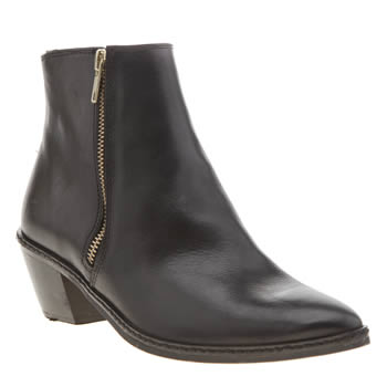 H By Hudson Black Azi Zip Boots