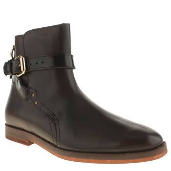 H By Hudson Burgundy Quartz Buckle Boots