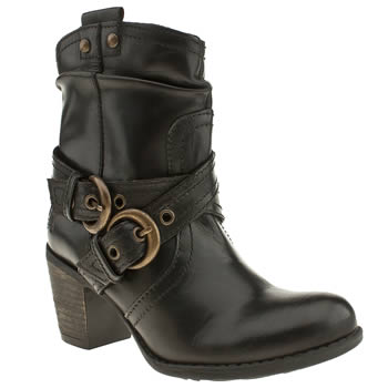 Hush Puppies Black Moorland Boots