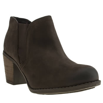 Womens Hush Puppies Dark Brown Moorland Chelsea Boots