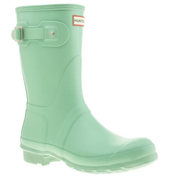 Womens Hunter Light Green Original Short Boots