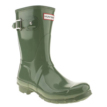 womens hunter green original gloss short ii boots