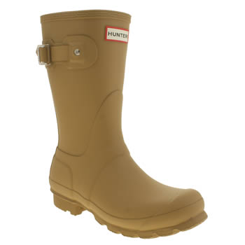 Womens Hunter Yellow Original Short Boots