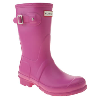womens hunter pink original short ii boots