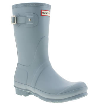 Hunter Pale Blue Original Short Boots