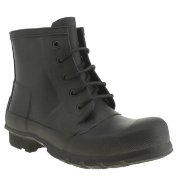 Hunter Black Original Lace Up Boots