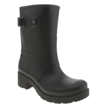 Womens Hunter Black Original Ankle Boots