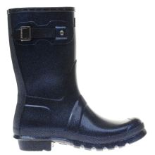 Hunter Navy Original Starcloud Short Womens Boots