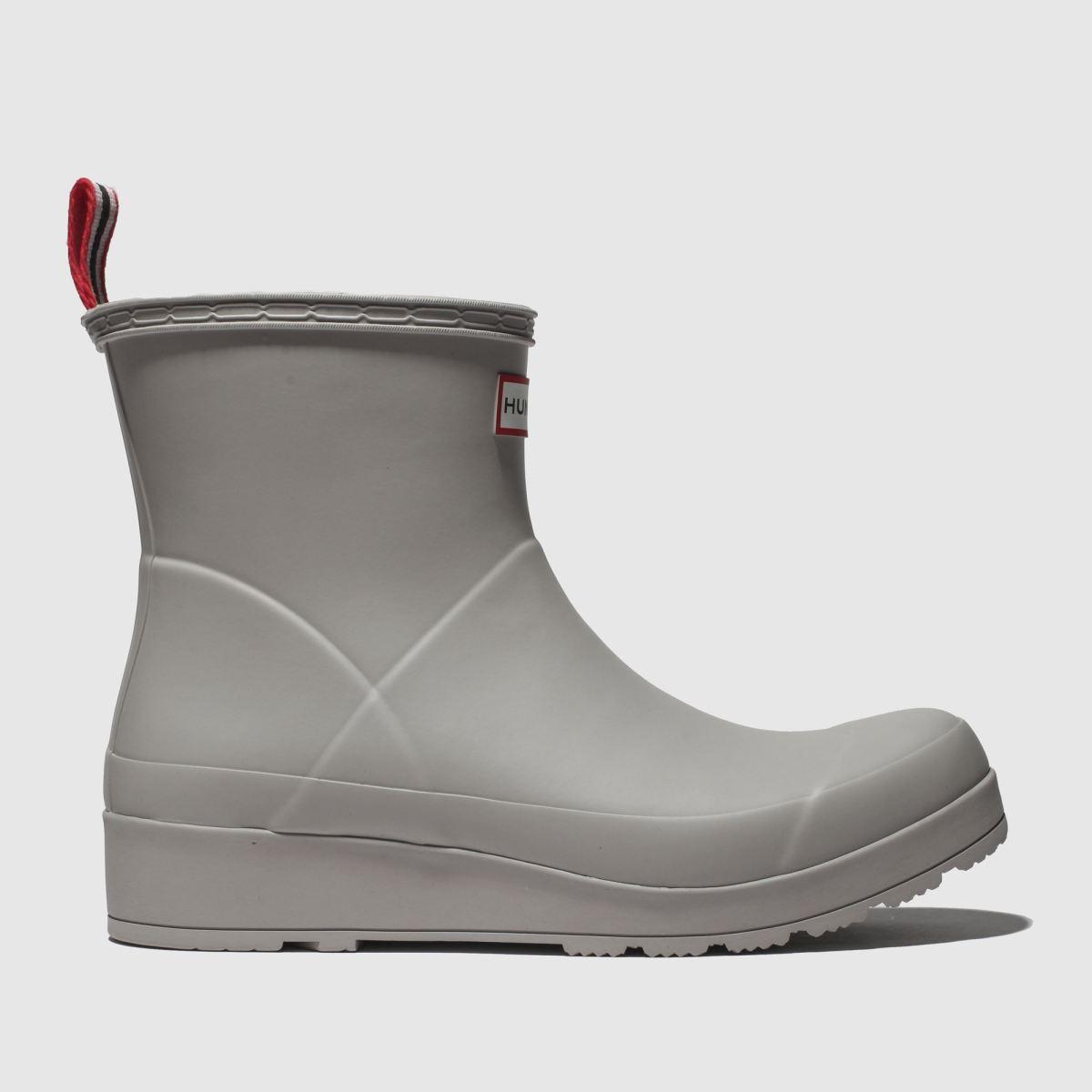 Hunter Light Grey Original Play Short Boots