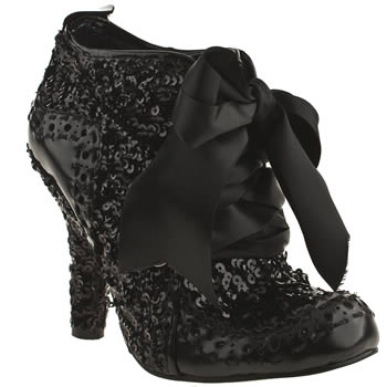womens irregular choice black abigails party boots
