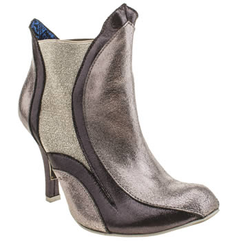 Womens Irregular Choice Silver Adore You Ankle Boots