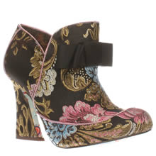 Irregular Choice Black & pink Lovingly Gazing Boots