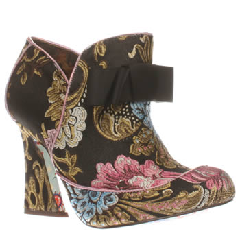 Irregular Choice Black & pink Lovingly Gazing Womens Boots