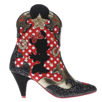 Irregular Choice Black X Disney Hot Diggety Dog Womens Boots