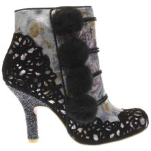 Irregular Choice Black & Silver Slummber Party Womens Boots