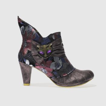 Irregular Choice Purple Miaow Floral Womens Boots