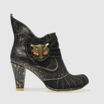 Irregular Choice Black & Gold MIAOW Boots