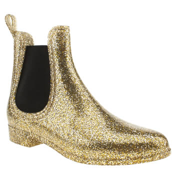 womens juju jellies gold chelsea boots