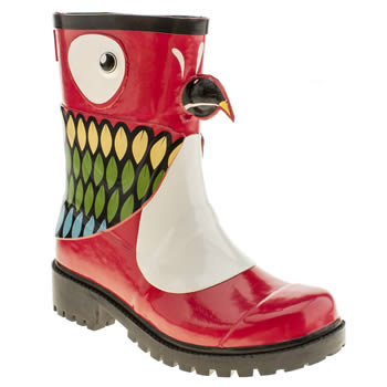 womens juju jellies red kigu parrot boots