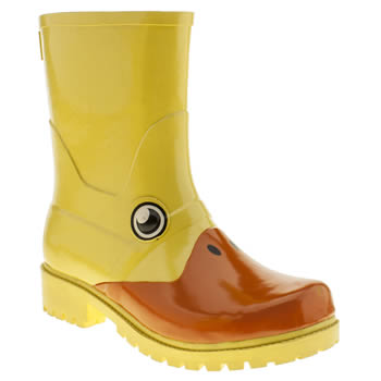 Womens Juju Jellies Yellow Kigu Duck Boots